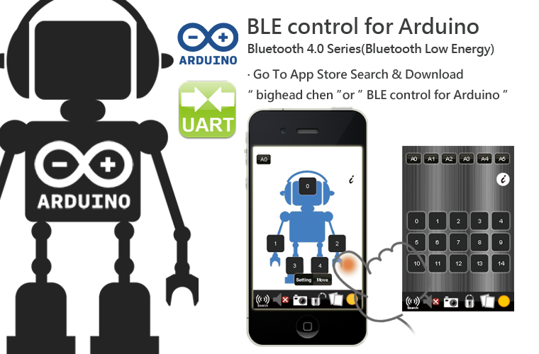 Download ArduinoTC -Arduino/BT/WiFi/BLE for Android